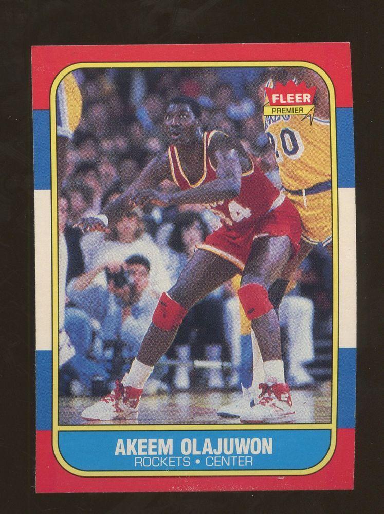 1986 fleer basketball 82 akeem olajuwon houston rockets