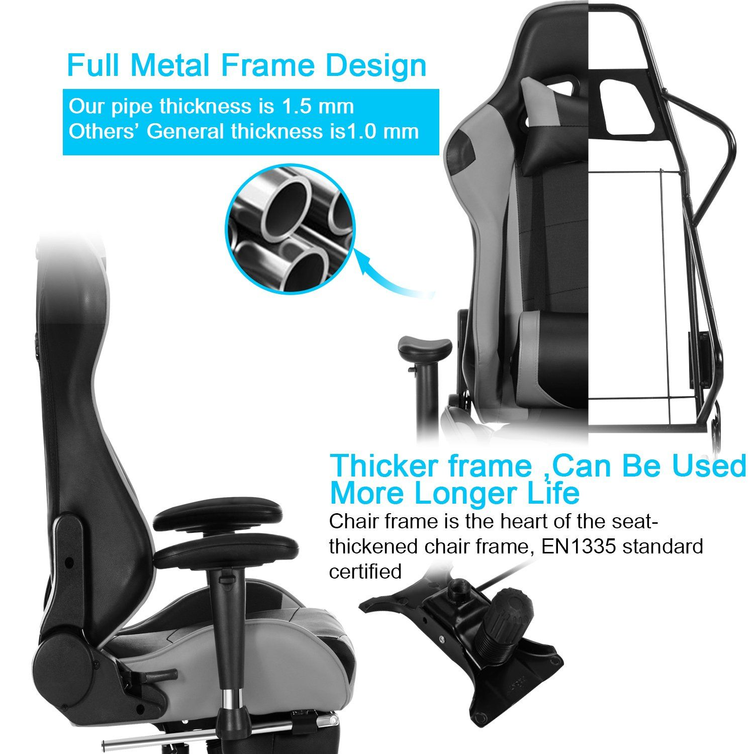 Cool Healgen Gaming Chair With Footrest Pc Computer Racing Gamer Gmtry Best Dining Table And Chair Ideas Images Gmtryco