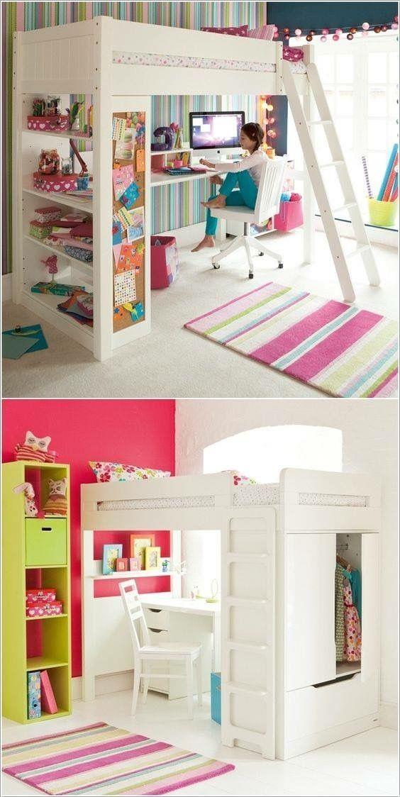 betten kinderzimmerspielzimmerbettenkaufenhochbettenetagenbettmdchen schreibtischplatzersparniszimmer ideen - Coolste Etagenbetten Mit Schreibtisch