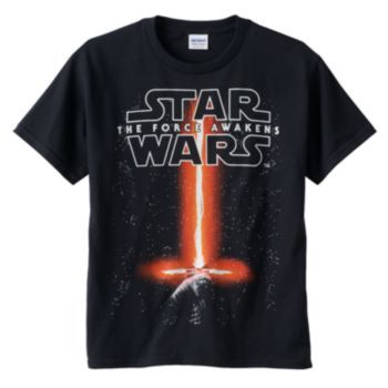 Star Wars: Episode VII The Force Awakens Glow-In-The-Dark Saber Tee - Boys 8-20