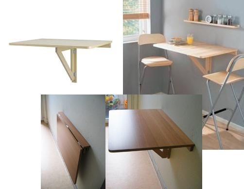 Small Kitchen W/ No Counter Space? Install The Norbo From Ikea That Neatly  Folds Away