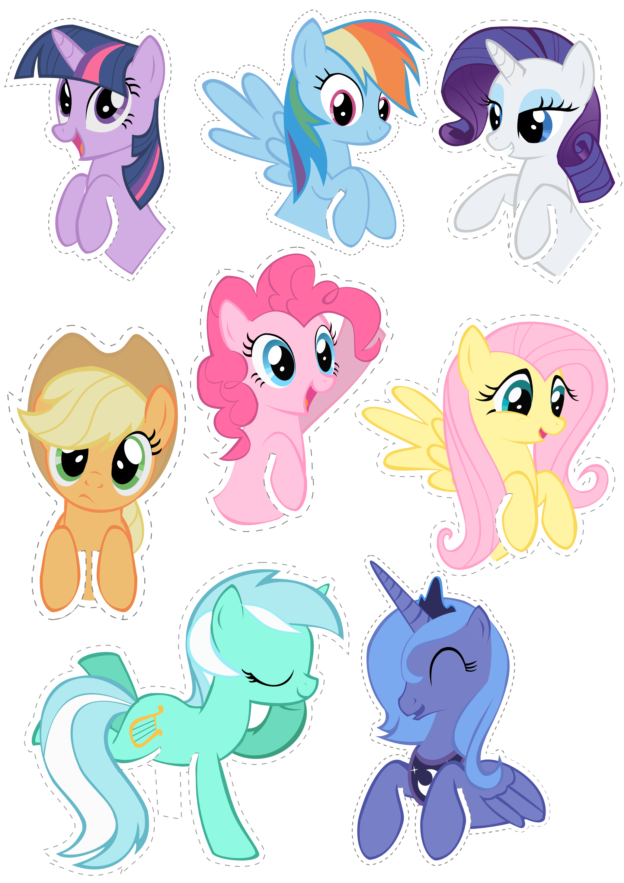 Pocket Pony Cutouts by OceanBreezeBronyviantart on