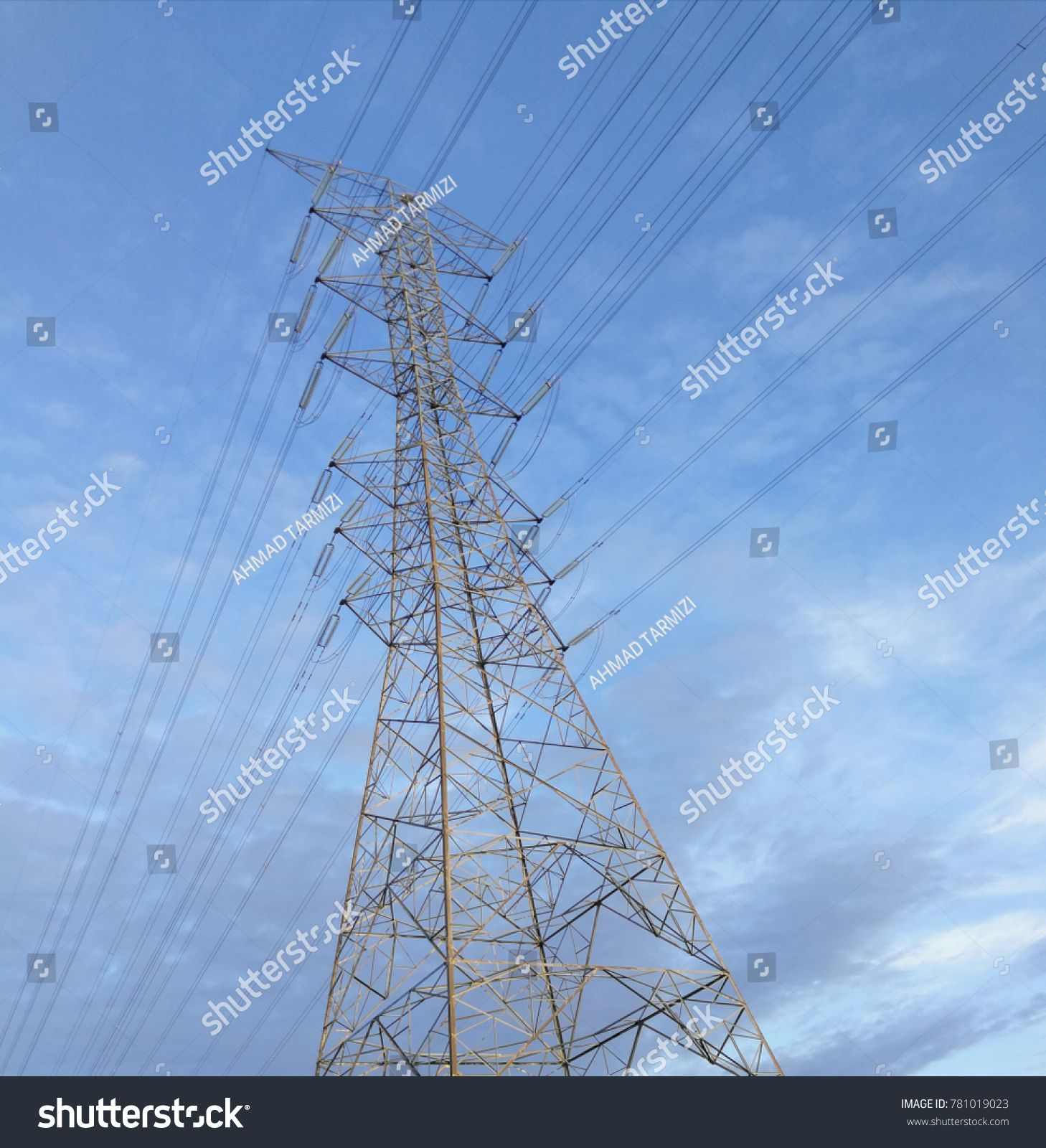 Electric Power Transmission Is One Process In The Transmitting Of Electricity To Consumers Near Shah Alam Mal Electric Power Modern Branding Logo Stock Photos