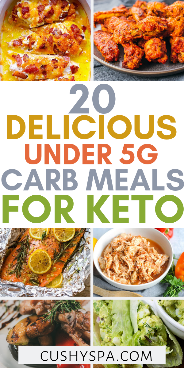 20 Delicious Under 5g Carb Meals for the Keto Diet is part of Keto - Try these low carb keto meals and stay in the state of ketosis  Each meal has only up to 5g of carbs per meal