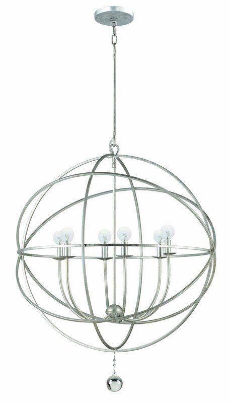 Crystorama lighting group 9228 solaris 6 light globe chandelier crystorama lighting group 9228 solaris 6 light globe chandelier aloadofball Images