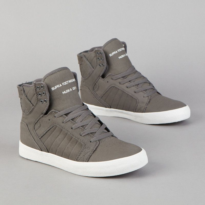 Supra Skytop Dark Grey / White