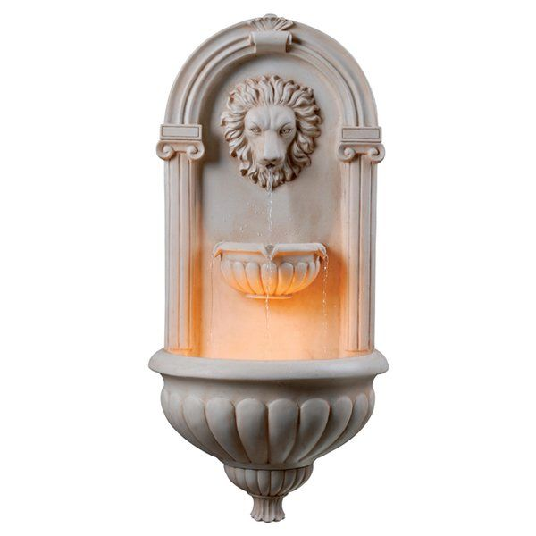 An Italian Inspired Design, The Wildon Home Caleb Wall Fountain Will  Beautify The Garden With