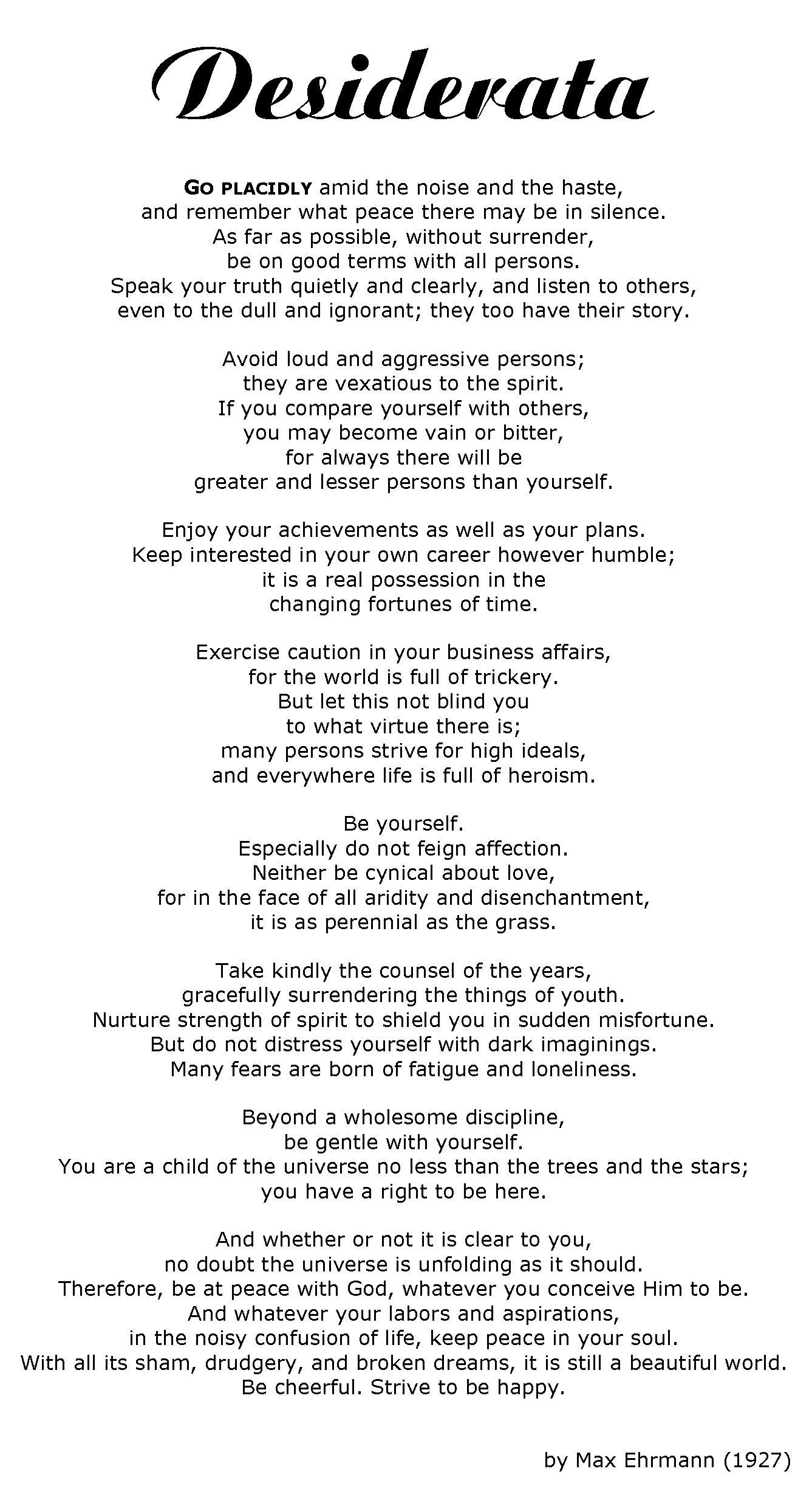 the desiderata of happiness pdf