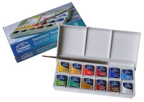 Cotman Aquarellfarben Sketchers Pocket 12 Halbe Napfe Amazon De
