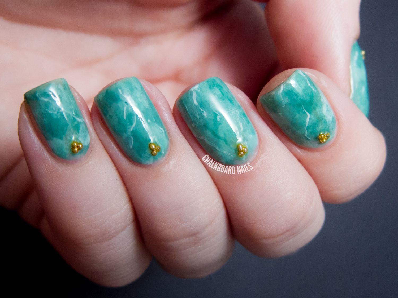 31DC2013 Day 04: Green Jade Nails | Jade nails, Chalkboard nails and ...