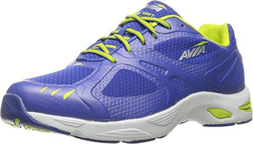 f2bc84c63e317 AVIA Women's Swift Trail Running Shoe,Blue Ribbon/Lime Shock/Chrome ...