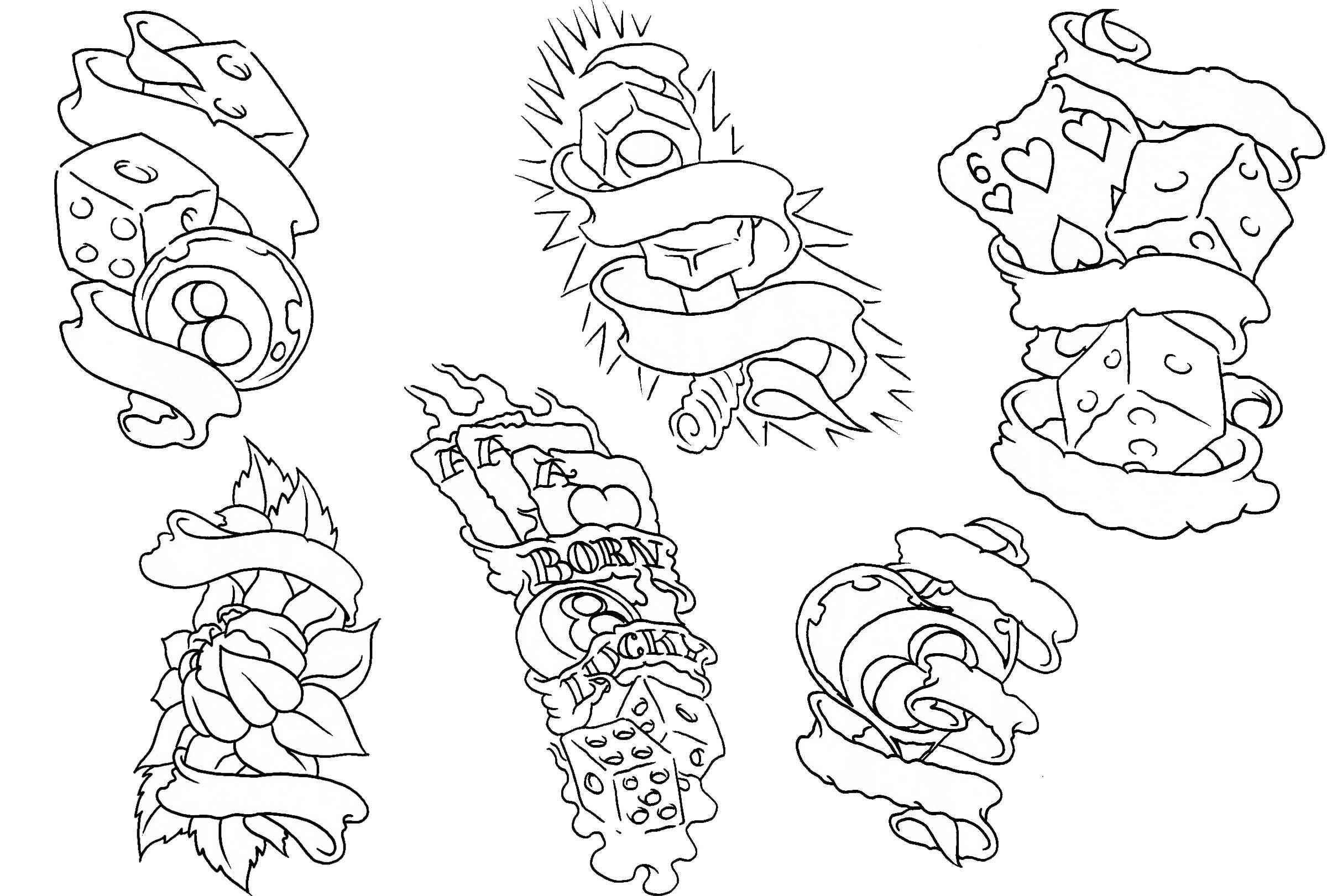 Free Tattoo Flash Outlines Tattoo Flash Art