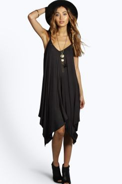 89549122b2f38 Asymmetric Hem Strappy Swing Dress   Hair and Fashion stuffs ...