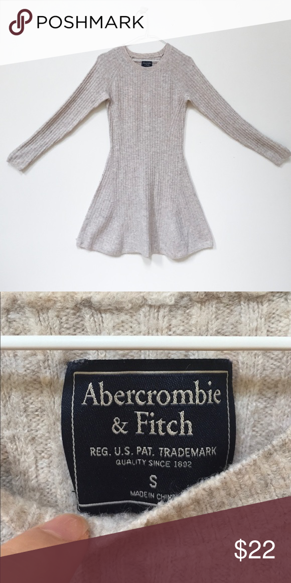 8fb368a9c6 ✨Abercrombie   Fitch Long Sleeve Sweater Dress Super cozy and comfy sweater  dress from A F in a beautiful cream color. Worn a handful of times but in  ...