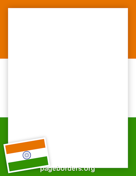 Printable Indian Flag Border Use The Border In Microsoft Word Or - Microsoft word photography invoice template marshalls online store