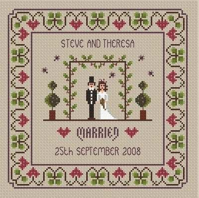 Wedding Sampler cross stitch chart