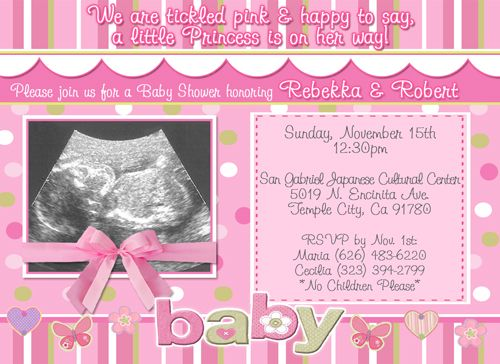baby shower invitations boy girl photo ultrasound | baby shower, Baby shower invitations