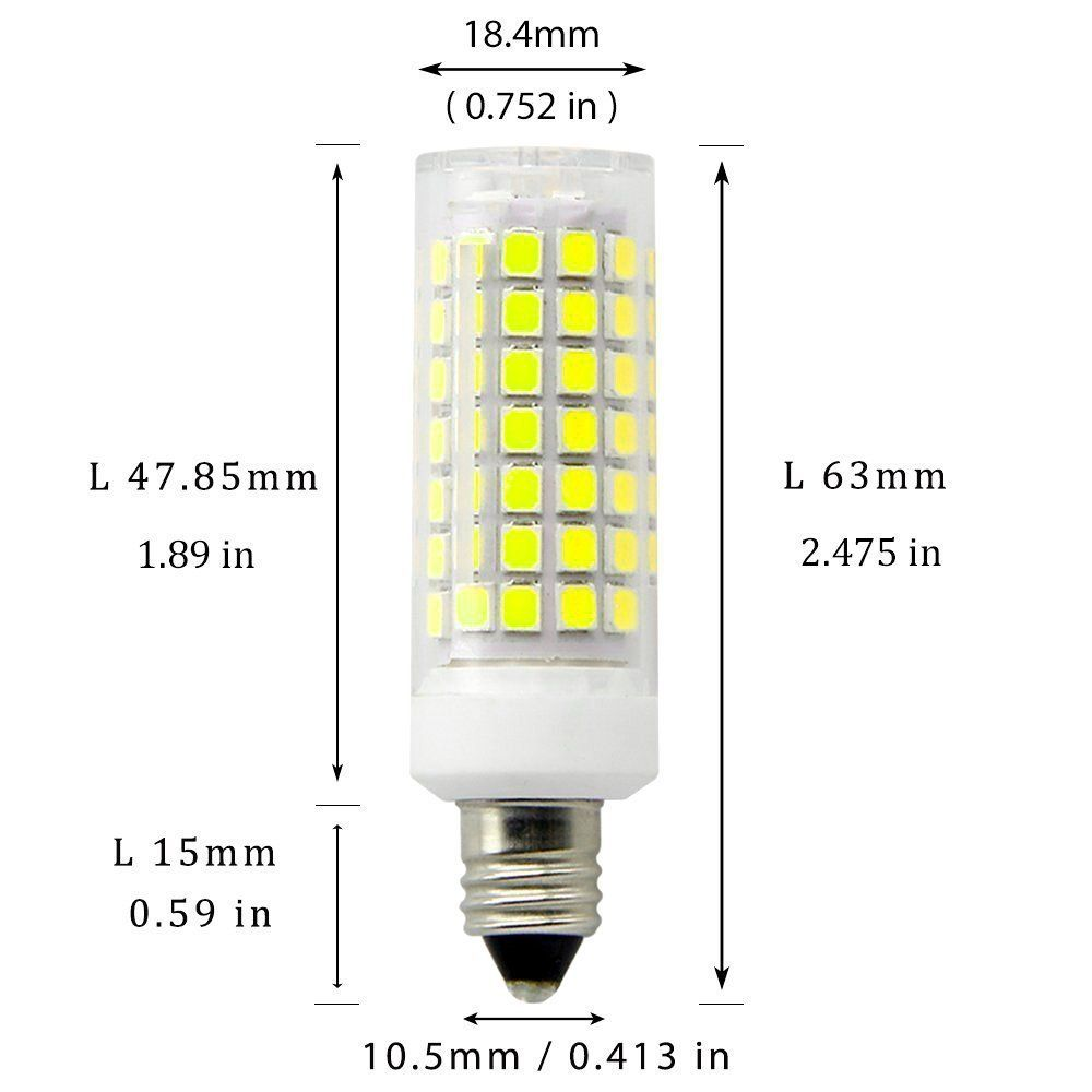 E11 Led Light Bulb Dimmable70w Or 100w Halogen Bulbs Equivalent Candelabra Criandgt 85 8 5 Wattjd E11 Base Daylight In 2020 Light Bulb Led Light Bulb Light Bulb Candle
