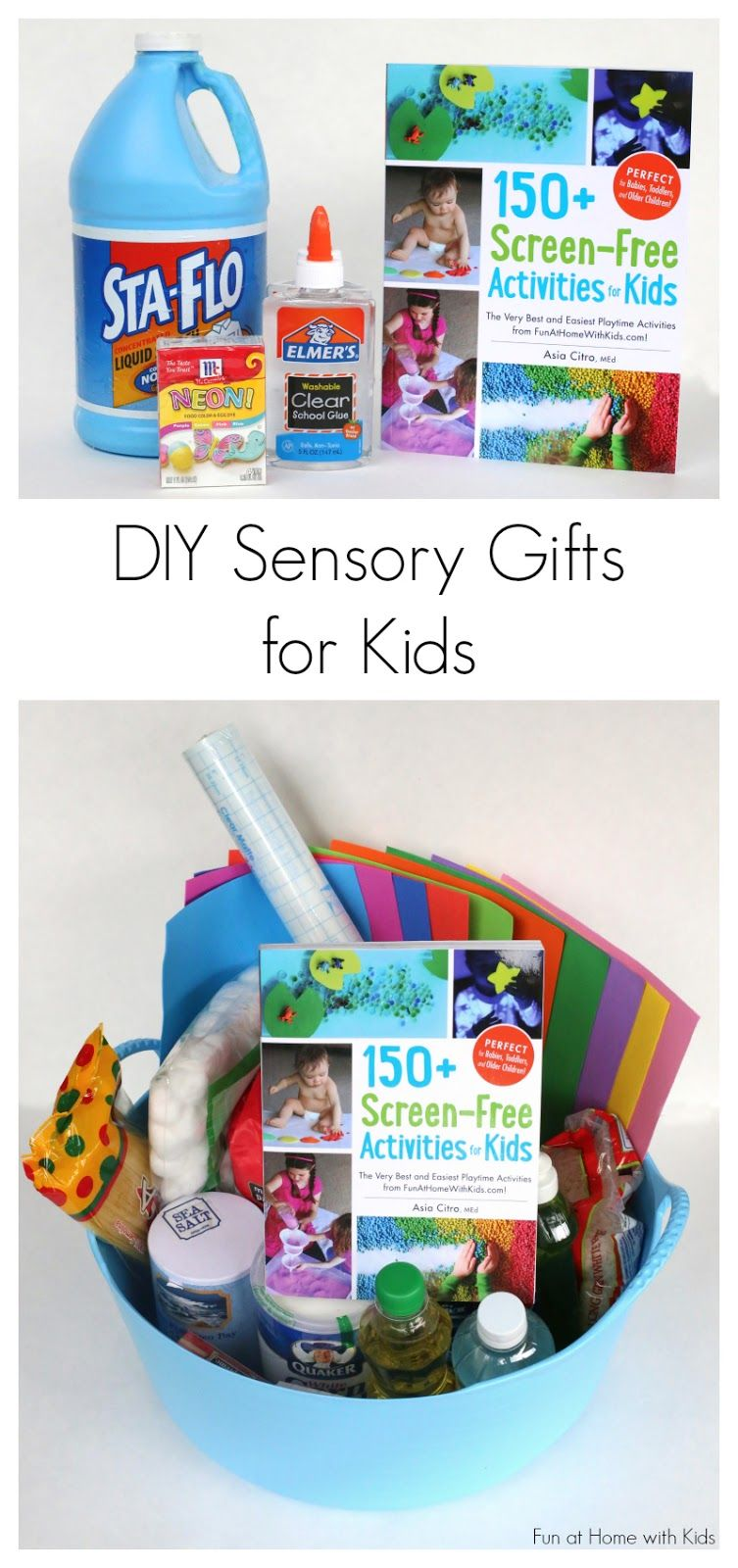 DIY Sensory Kits: Creative Gifts for Kids | FUN AT HOME WITH KIDS ...