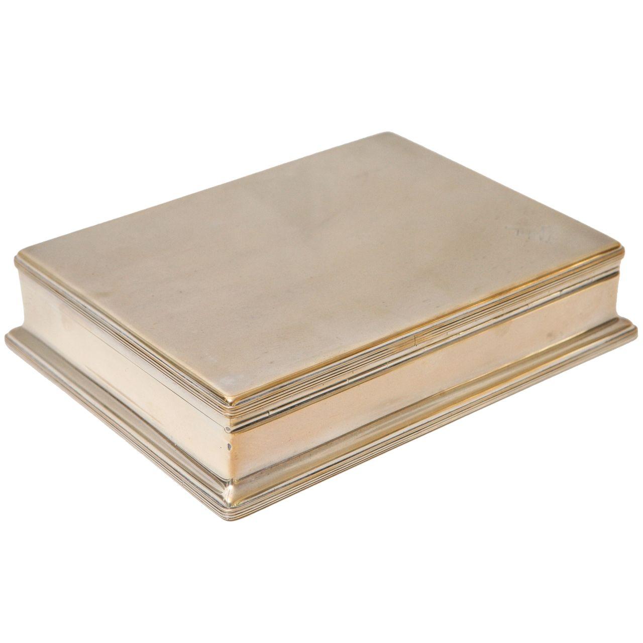 Decorative Boxes English Asprey Sterling Silver Box  Modern Decorative Boxes Box