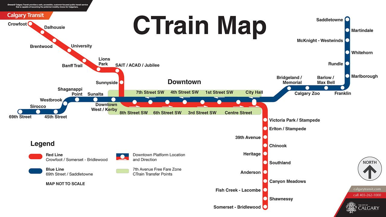 Calgary Subway Map.Official Map Ctrain Calgary Canada Lots Of People Have Requested