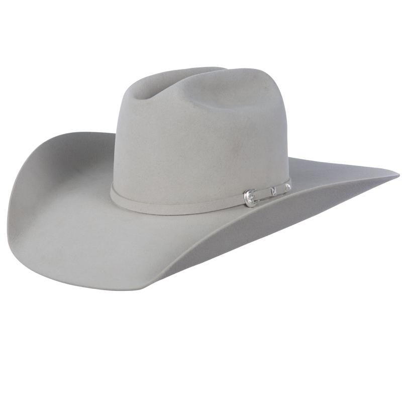 8e3ef016ba8d7 Shop Resistol 6X Midnight Open Crown Silver Belly Felt Cowboy Hat ....size  6 7 8