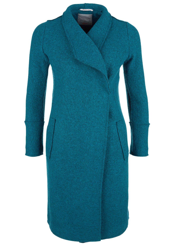 Mantel aus Bouclé Strickfleece   cuellos   Wolle kaufen