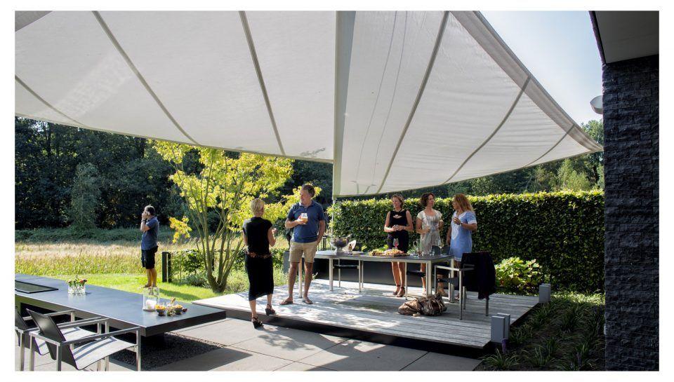 Tent Overkapping Tuin : Moderne overkapping tuin zonwering overstek