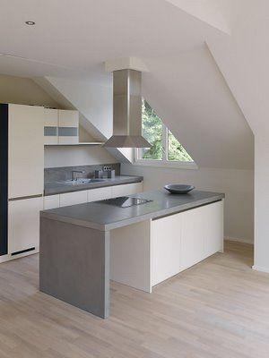 beton cire auf arbeitsplatte aus multiplex k che k che. Black Bedroom Furniture Sets. Home Design Ideas
