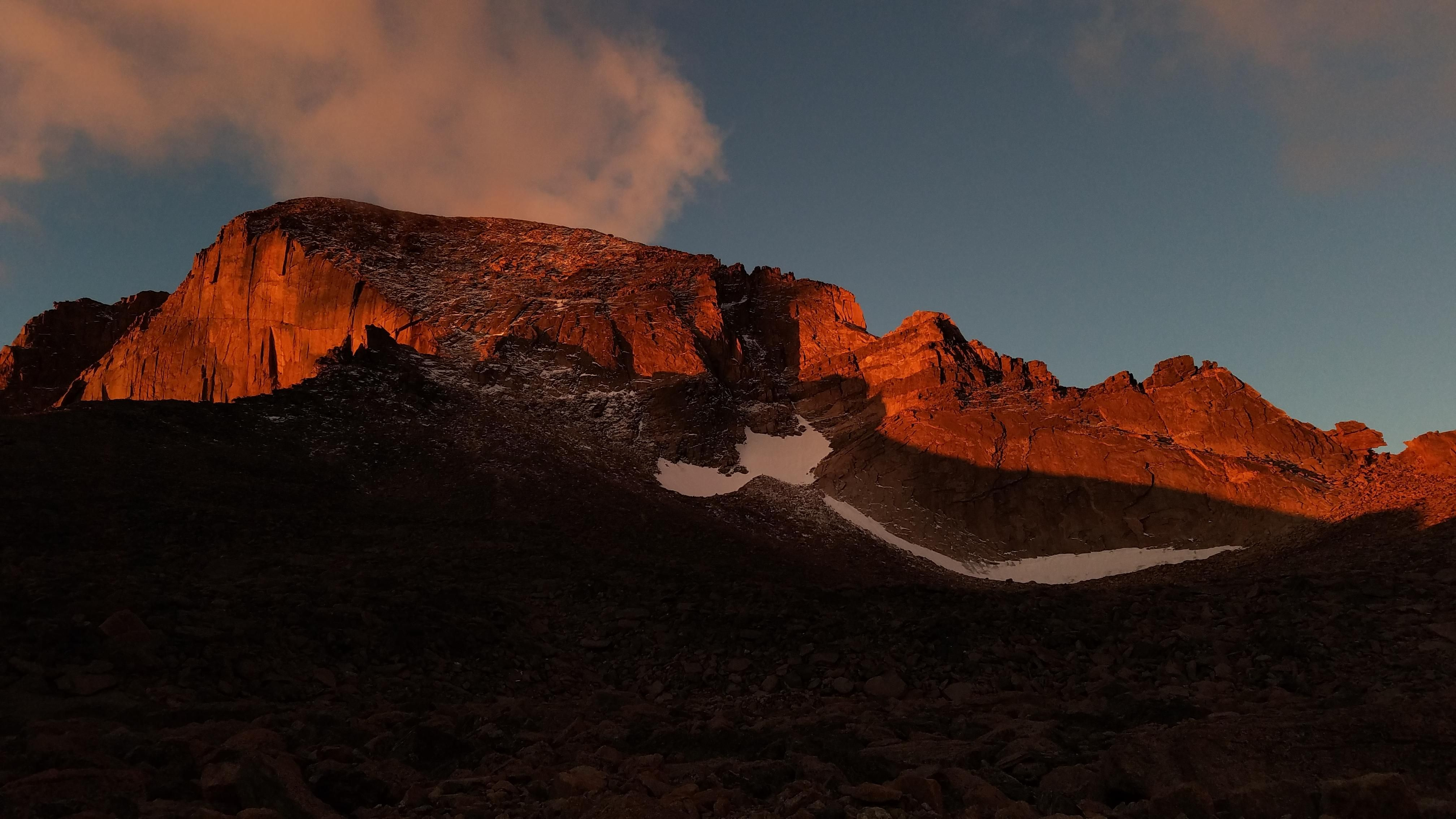 Unedited Photo Of Longs Peak In Rocky Mountain National Park After The Sunrise Struck The East Face Rocky Mountain National Park Rocky Mountains National Parks
