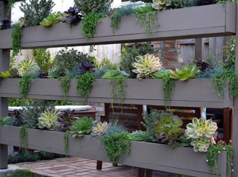 brise vue avec plantes et jardinière de terrasse | terasse | Pinterest
