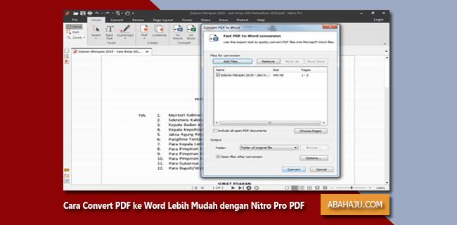Cara Convert Pdf Ke Word Lebih Mudah Dengan Nitro Pro Pdf
