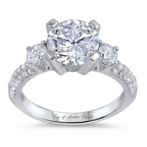 35CT Round Cut Solitaire Russian Lab Diamond Engagement Ring