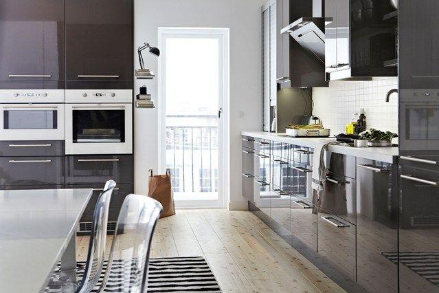 Charcoal Gloss Ikea Kitchen Inspiration Hardwood Floors In Kitchen Ikea Kitchen