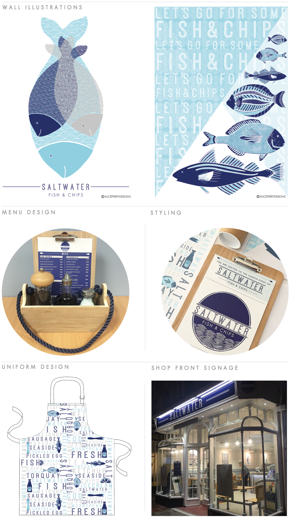 BRANDING | Saltwater Fish & Chips … | Branding design ...