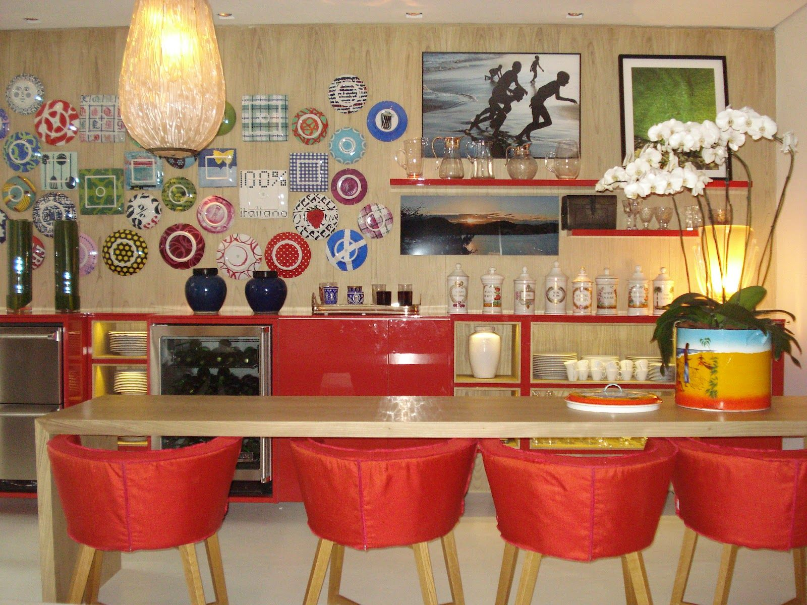 Cozinha casa de praia do arquiteto David Bastos.