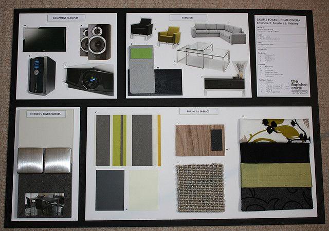 Design For A Home Cinema Sample Board Architectural Interior Design Pinterest Board And