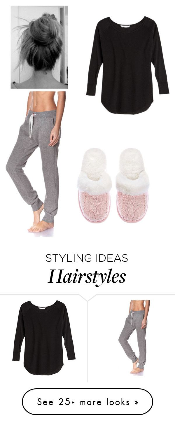 """""""Messy hair don't care"""" by kenyon-lynn-bryer on Polyvore featuring Victoria's Secret and Sweet Pants"""