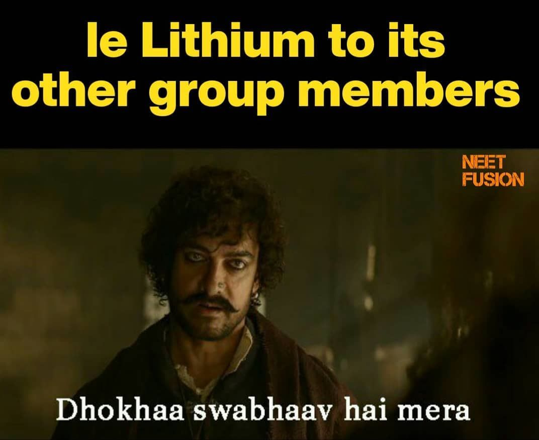 Exception And Lithium Go Hand In Hand Like Comment Share Follow Follow Neetfusion Follow Neetfusion Science Memes Nerd Jokes Biology