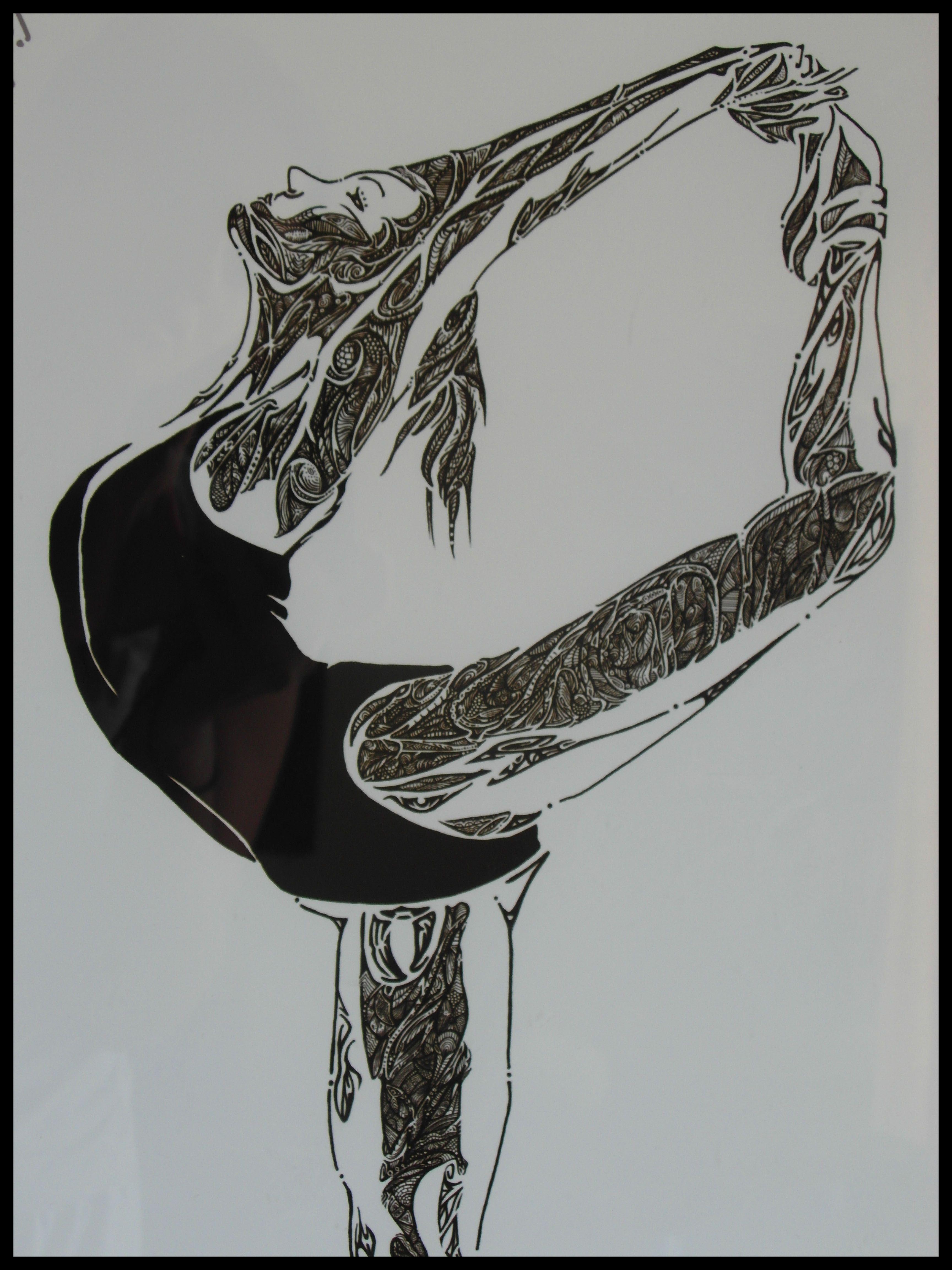 """""""Bailar es soñar con los pies"""" J.Sabina Dibujo Digital inspirado en la obra de Greg Waters """" Abandon Building Ballet"""" Tamaño: 40 x 56 cms Precios inbox Emoticón smile #imagoartediseño #bailarina #dance #dancer #art #tribalrt #gregwaters #creativity #blackandwhite #ilustration"""