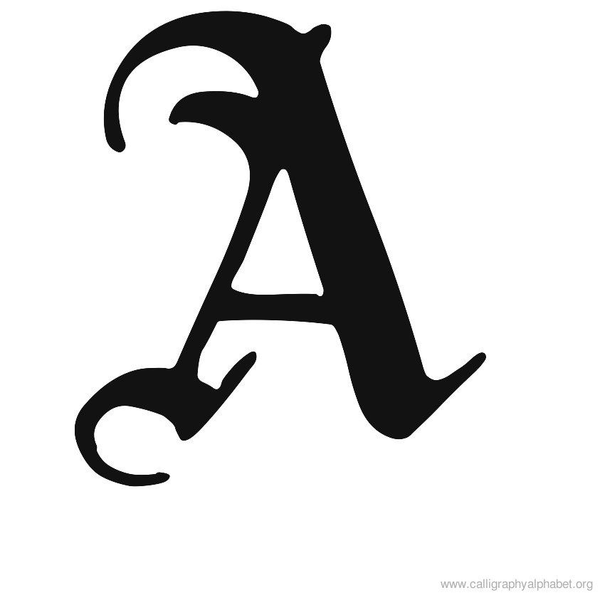 good A&c Kitchen And Bath #4: Calligraphy Alphabet A | Alphabet A Calligraphy Sample Styles ... | Chinese u0026amp; English Calligraphy | Pinterest | English, A alphabet and The ou0026#39;jays