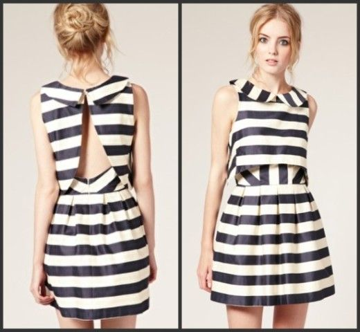Fabulous Black And White Stripe Dress