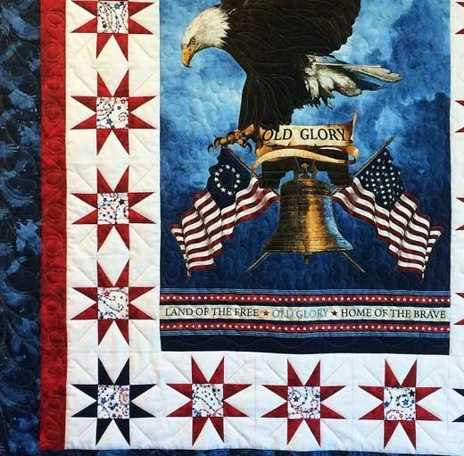 Stonehenge Old Glory Patriotic Bald Eagle Quilt Kit at Creative ... : old glory quilt - Adamdwight.com
