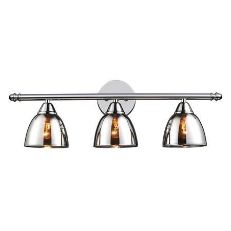 Chrome Translucent Glass Vanity Light 3 Light Light Fixtures Bathroom Vanity Bathroom Light Fixtures Vanity Light Fixtures