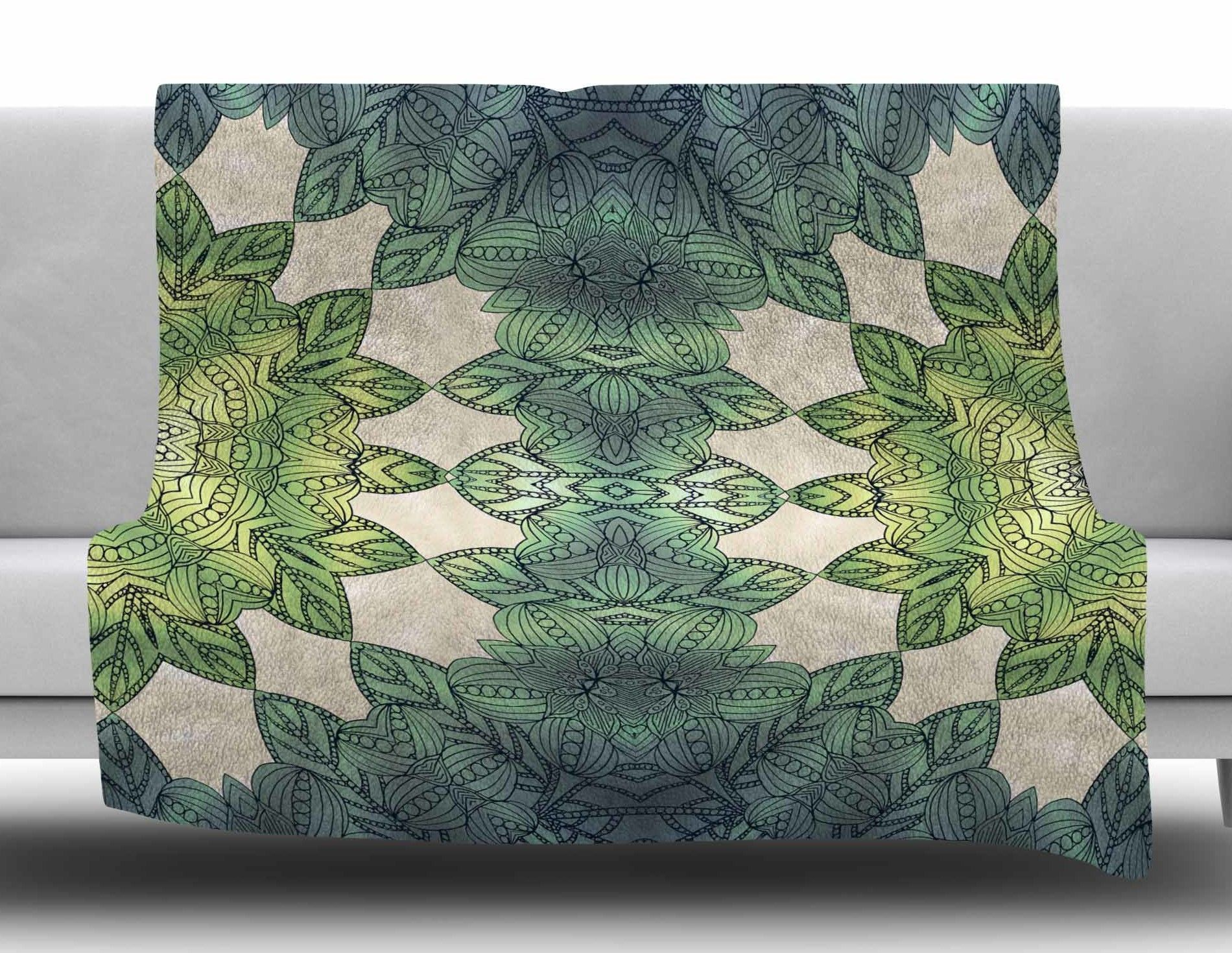 Forest Leaves by Art Love Passion Fleece Blanket