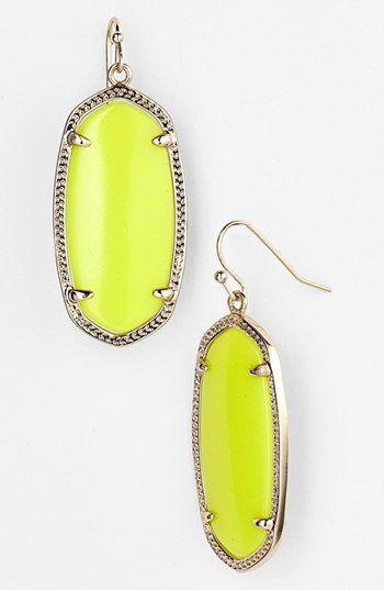 a0e544c2e11c0 Kendra Scott 'Elle' Small Oval Earrings   Nordstrom - Neon Yellow ...