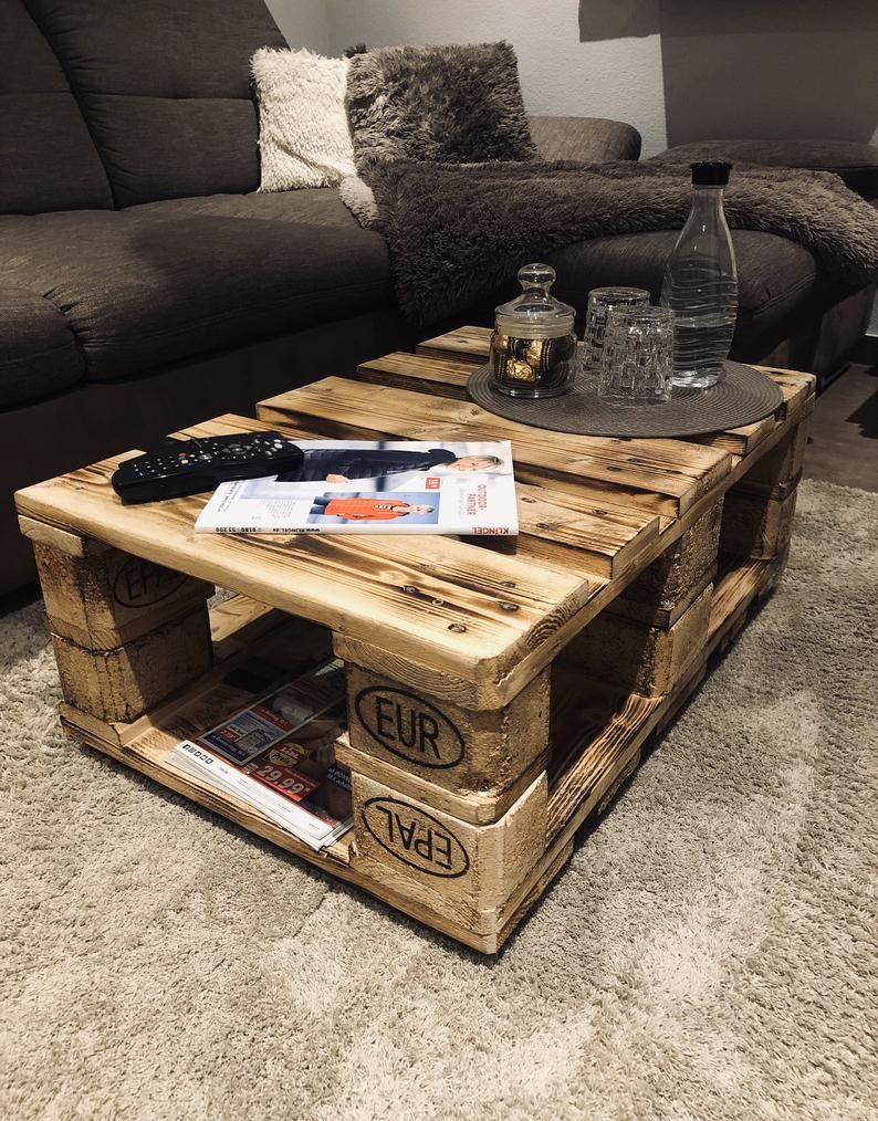 Coffee Table Made Of Pallets Living Room Table Pallet Furniture Couchtisch Palette Paletten Wohnzimmertisch Wohnzimmertisch