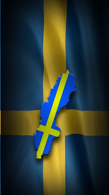 Sweeden Flaggor Stockholm Sverige