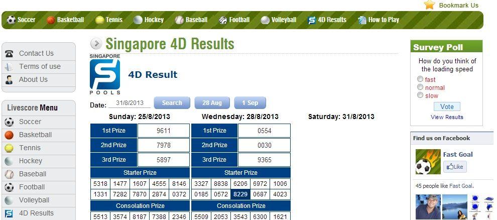 Singapore 4D Result | Singapore 4D Results | Singapore, Us