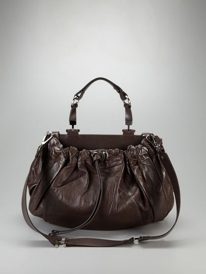 Large Leather Convertible Satchel by Marni on Gilt.com